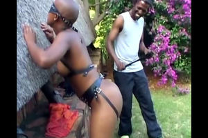 Real african porno with big-boobed..