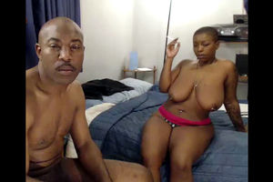 Dark-hued web cam model MrandMsSkin in..