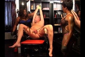 Studs gets torment with 2 ebony bitches