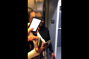 Ebony duo pummels in elevator and caught